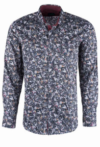 Pinto Ranch YY Collection Black Paisley Snap Shirt - Front