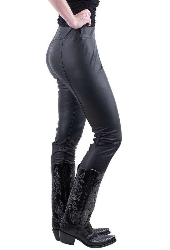 Lyssé Textured Faux Leather Leggings - Side