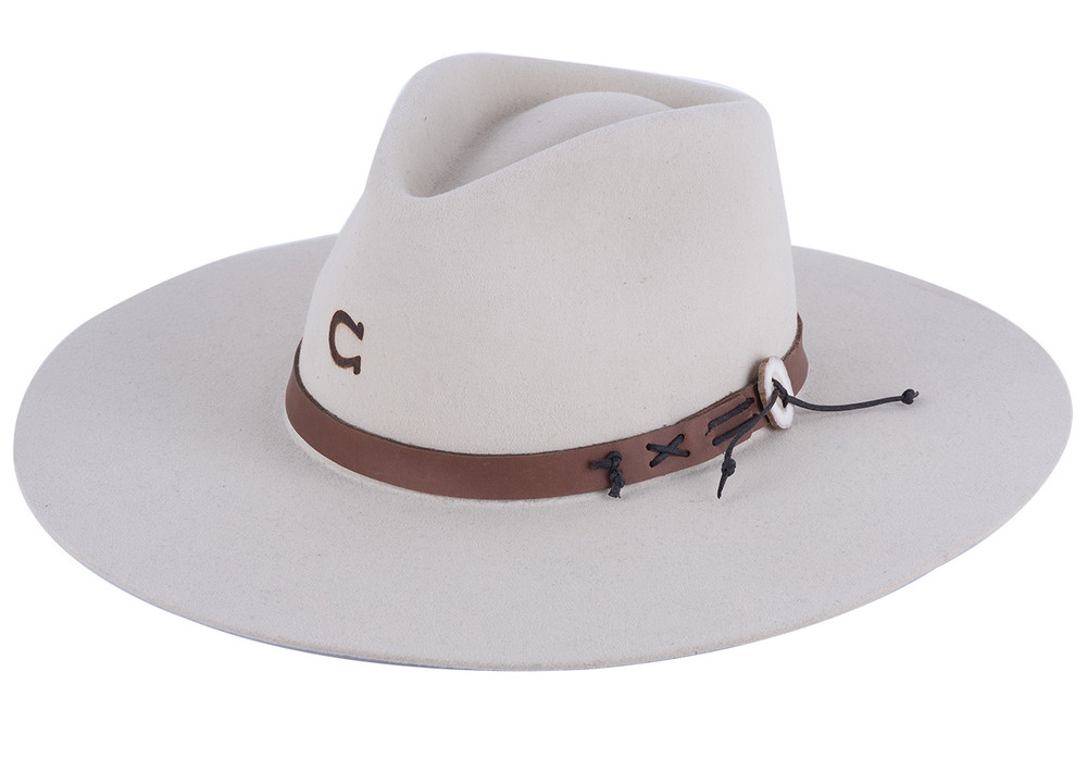 Charlie 1 Horse Bone Teepee Hat - Front