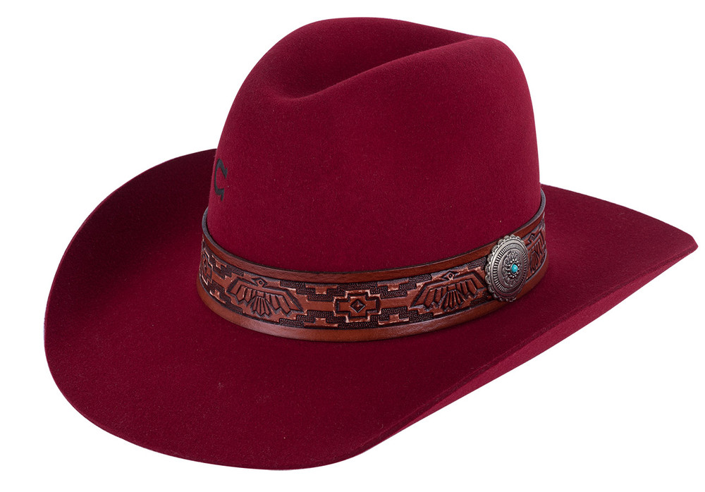Charlie 1 Horse Red Chief Hat - Side
