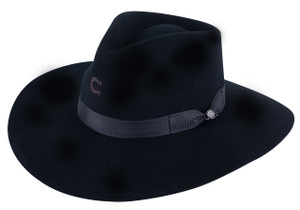 Charlie 1 Horse Black Highway Hat - Side