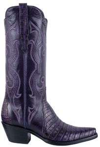 Stallion Women's Purple Caiman Gallegos Boots - Hero