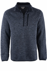 Stetson Gray Bonded Zip Knit Sweater - Front