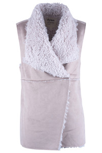 Dylan Women's Maddy Reversible Shearling Vest - Front