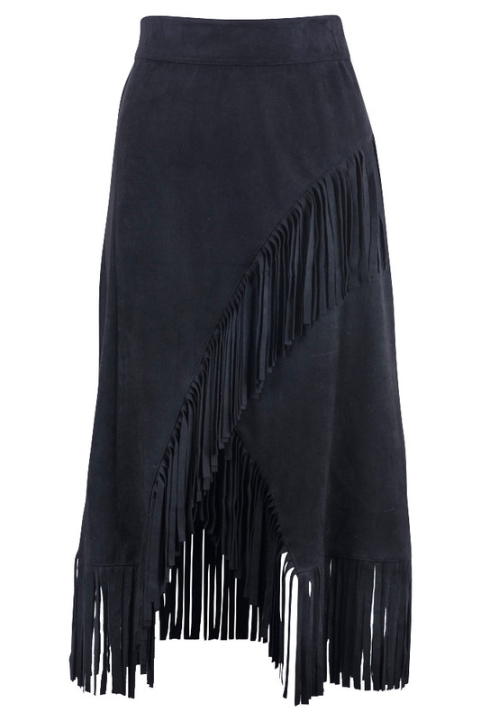 W.A.Y. Women's Pull-On Skirt with Fringe - Front