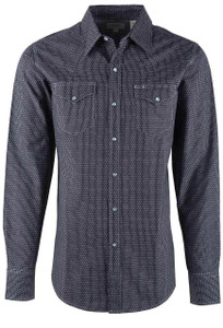 Stetson Gray Dots & Dashes Snap Shirt - Front