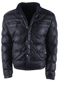 Stetson Dark Brown Reversible Lamb Puffy Jacket