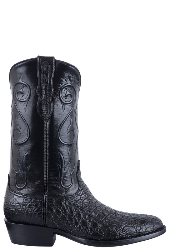 BLACK JACK EXCLUSIVE BLACK CAIMAN FLANK BOOTS