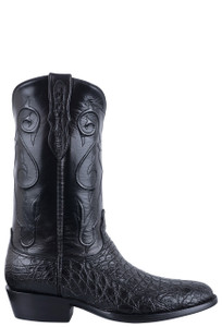 Black Jack Exclusive Black Caiman Flank Boots - Side