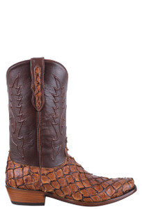 Black Jack Exclusive Ginger Chestnut Pirarucu Boots - Side