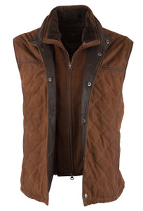 Madison Creek Beaver Creek Bourbon Goat Suede Vest - Front