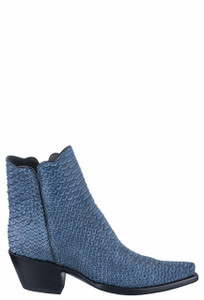 Stallion Women's Denim Python Zorro Boots - Side