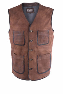 Madison Creek Whiskey Fort Worth Goat Suede Vest - Front