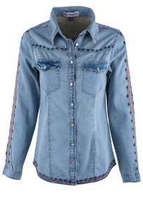 Montana Women's San Jose Light Denim Shirt - Front