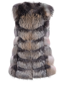 La Fiorentina Natural Golden Island Fox Vest - Front