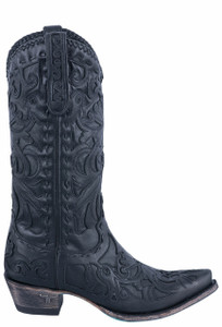 Lane Women's Black Inlaid Robin Boots - Side