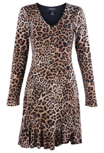 Karen Kane Women's Sienna Leopard Dress - Front