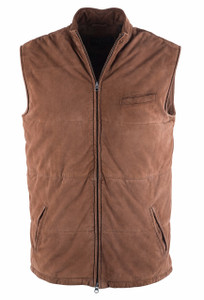 Madison Creek Men's Whiskey Cody Suede Vest - Front