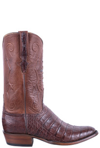 Lucchese Men's Barrel Brown Ultra Caiman Boots - Side