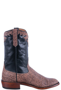 Rios of Mercedes Men's Rum Brown Elephant Roper Boots - Side
