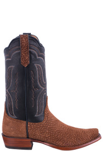 Rios of Mercedes Men's Rust Carpincho Cowboy Boots - Side