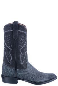 Rios of Mercedes Men's Black Poseidon Cowboy Boots - Side