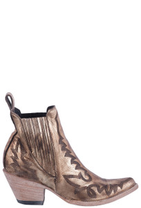 Old Gringo Women's Metallic Gold Juno Boots - Side