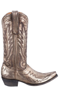 Old Gringo Women's Metallic Gold Nevada Boots - Side