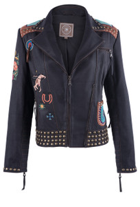 Double D Ranch Women's American Assemblage Jacket - Front
