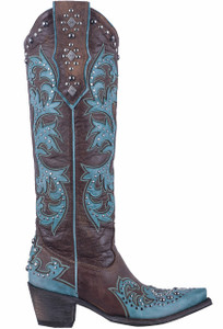 Old Gringo Women's Brass Overlay Ilona Boots- Side