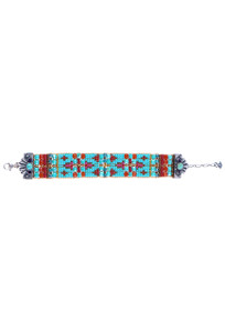Peyote Bird Women's Turquoise Gemtip Beaded Bracelet - Front
