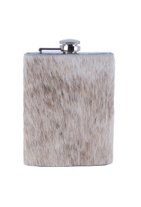 Springbok Hide 8oz Flask - Front