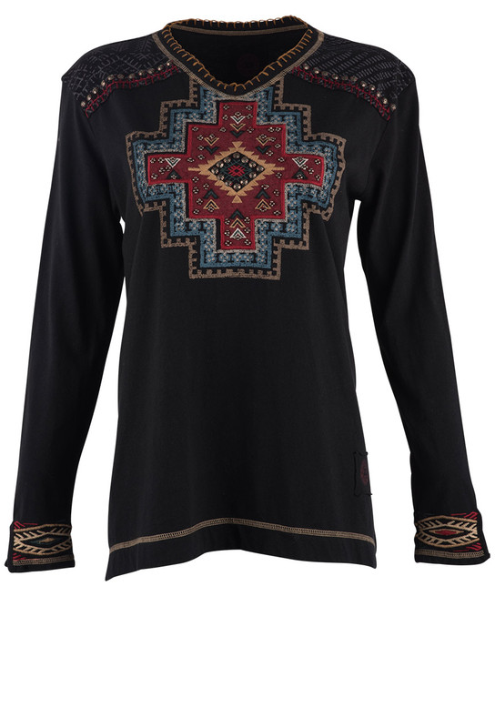 DOUBLE D RANCH APACHE BLEND TOP in BLACK