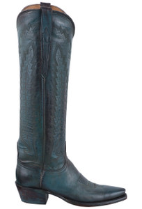 Lucchese Women's Antique Turquoise Mad Dog Goat Boots - Side
