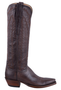 Lucchese Women's Brown Vero Goat Boots - Side