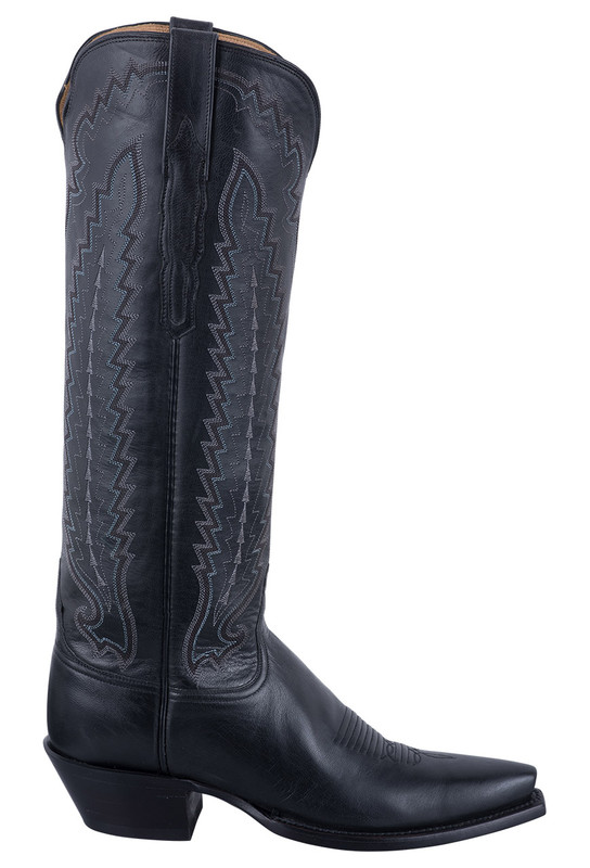 Lucchese Women's Black Vero Goat Boots - Side