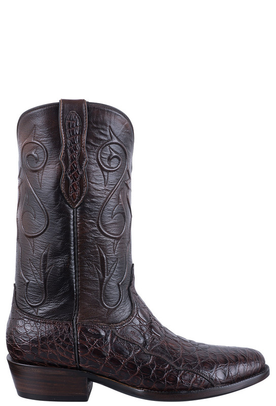 Black Jack Exclusive Chocolate Caiman Flank Boots - Side