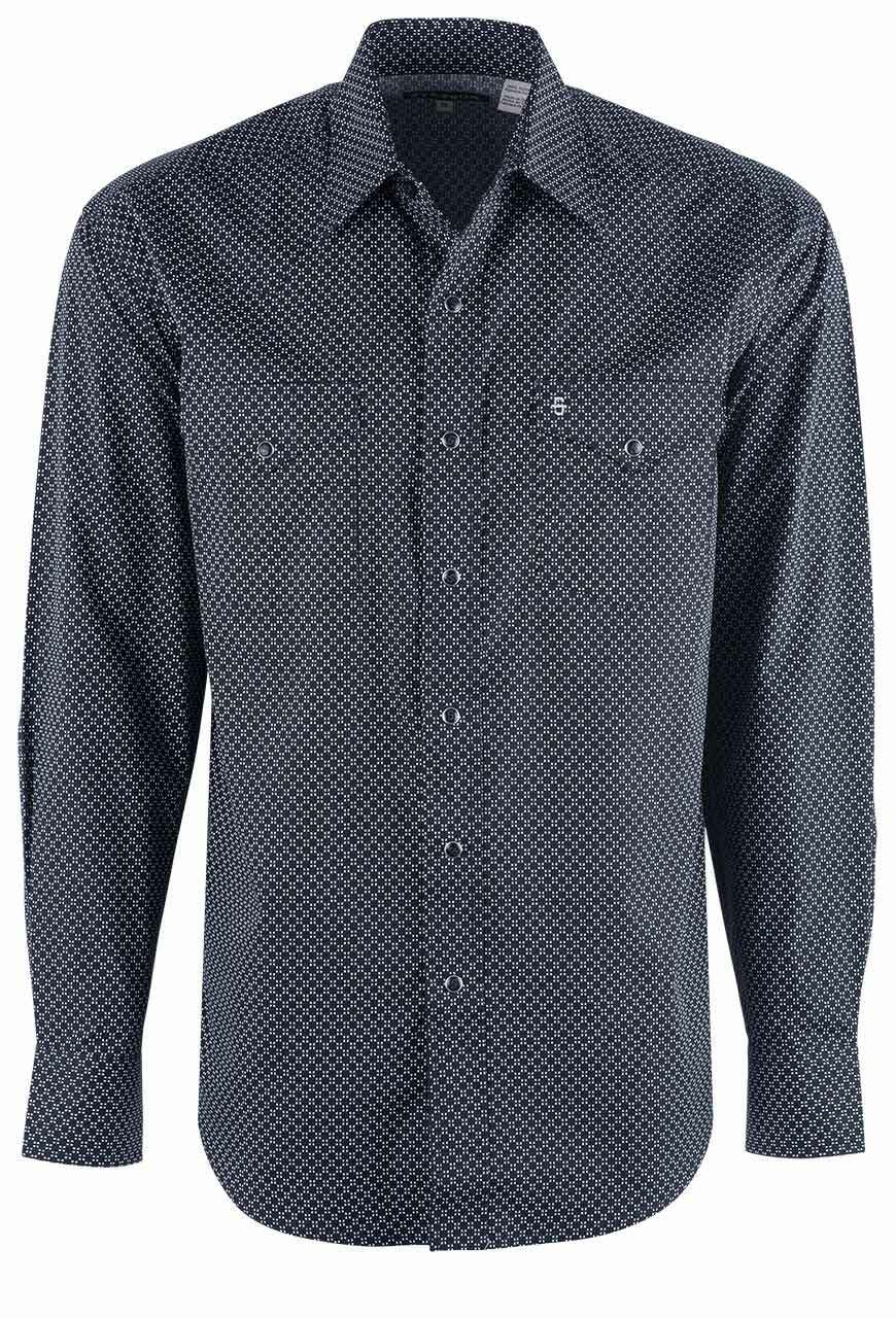 Cinch Mens Classic Fit Long Sleeve Snap Two Flap Pocket Print Shirt