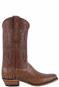 Tony Lama Signature Series Men's Saddle Vintage Nile Belly Boots - Side