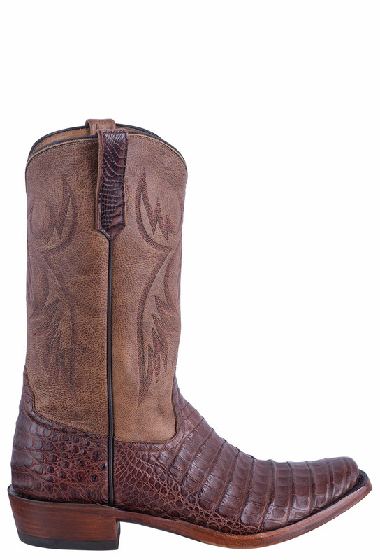 Rios of Mercedes Men's Tobacco Caiman Belly Boots - Side