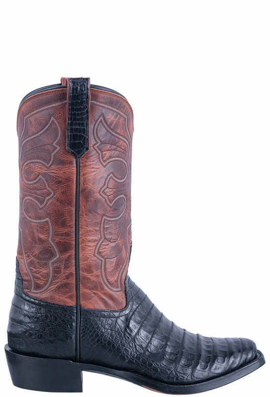Rios of Mercedes Men's Black Caiman Belly Boots - Side