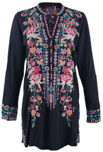 Johnny Was Women's Annette Tunic Top - Front