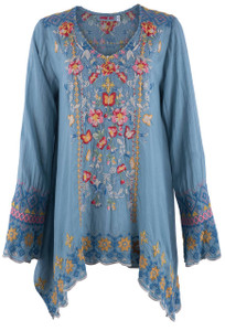 Johnny Was Women's Rosetta Tunic Top - Front