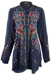 Johnny Was Lyndsey Tunic Top - Front