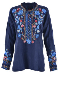 Johnny Was Women's Indra Cupra Blouse - Front