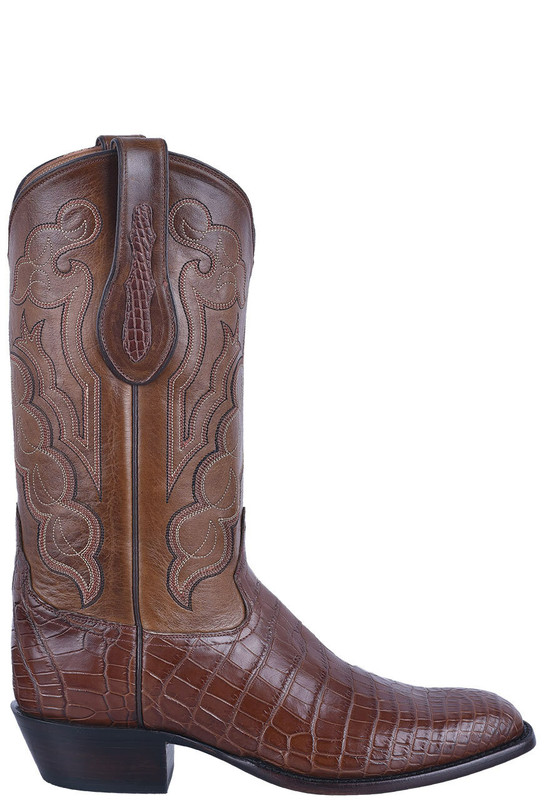 Tony Lama Signature Series Men's Whiskey Nile Belly Boots - Side