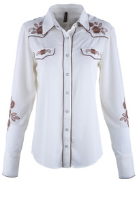 Stetson Women's Embroidered Western Shirt - Front