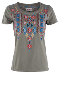 Driftwood Olive Diamond Tee - Front