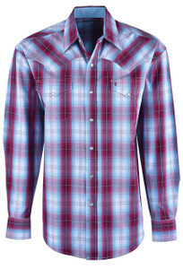 Stetson Red Spring Ombre Plaid Shirt - Front