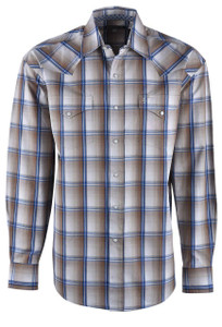 Stetson Brown Wheat Ombre Snap Shirt - Front